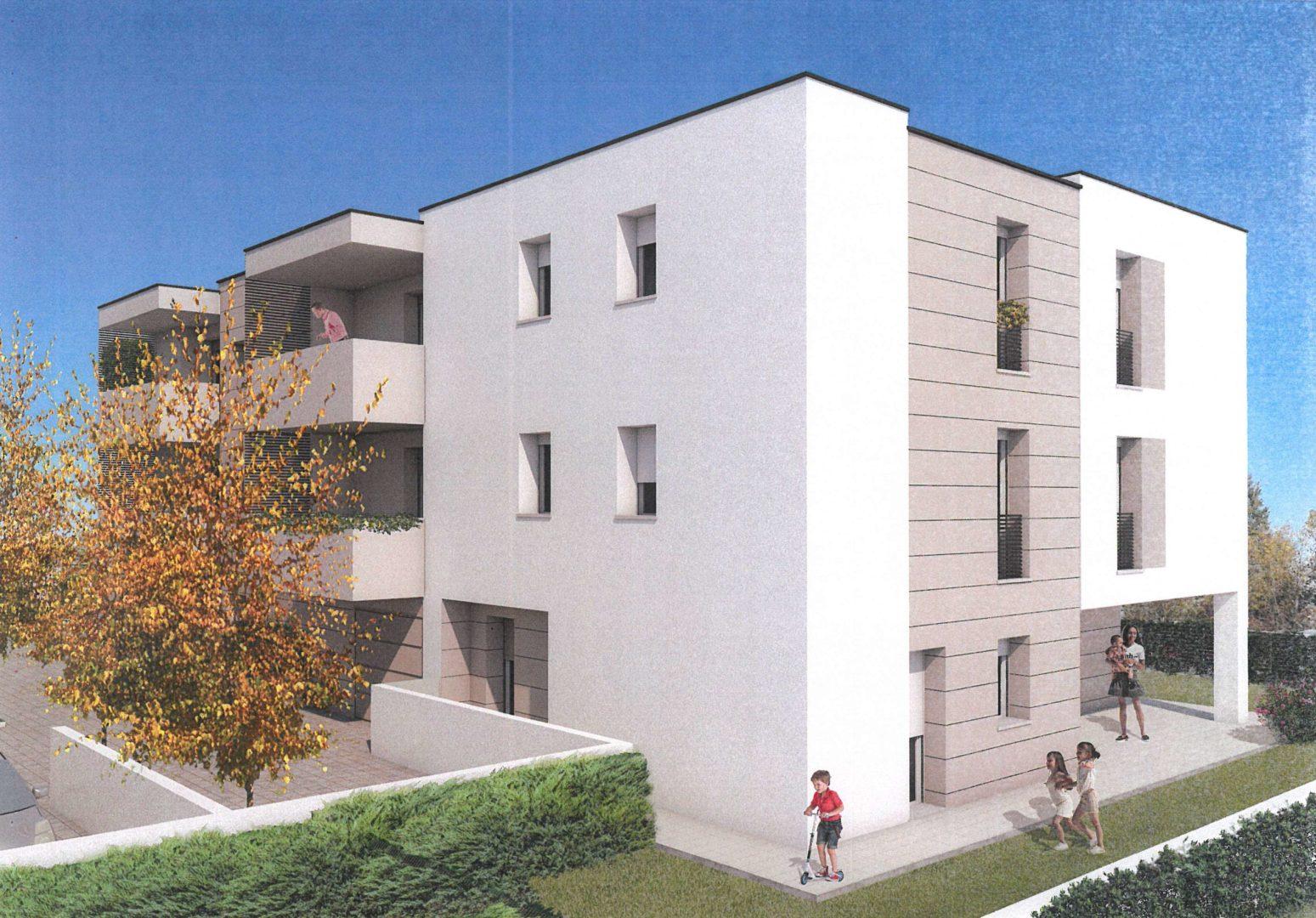 su elegante palazzina nuovo appartamento 3 camere